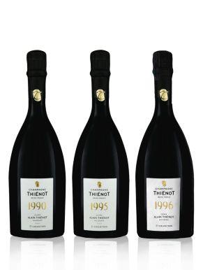 Thienot Cuvee Alain 90/95/96 Vintage Champagne 3x75cl