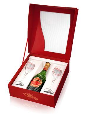 Tsarine Brut Champagne 75cl 2 Flute Gift Set