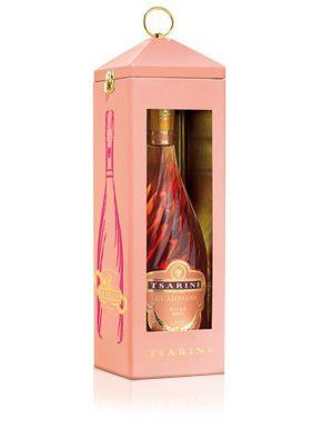 Tsarine Rosé Brut Champagne Gift Tin Lantern 75cl