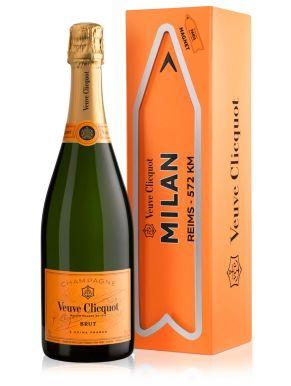 Veuve Clicquot Brut Champagne MILAN Magnet Arrow 75cl