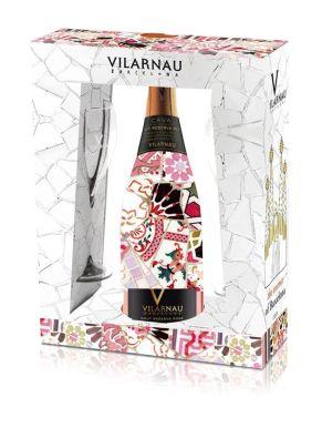 Vilarnau Rose Cava Trencadis Edition Gaudi Sleeve 75cl & 2 Flute Set