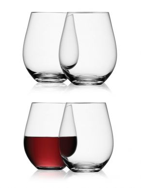 LSA Wine Collection Red Wine Stemless Glasses - 530ml (Set of 4)