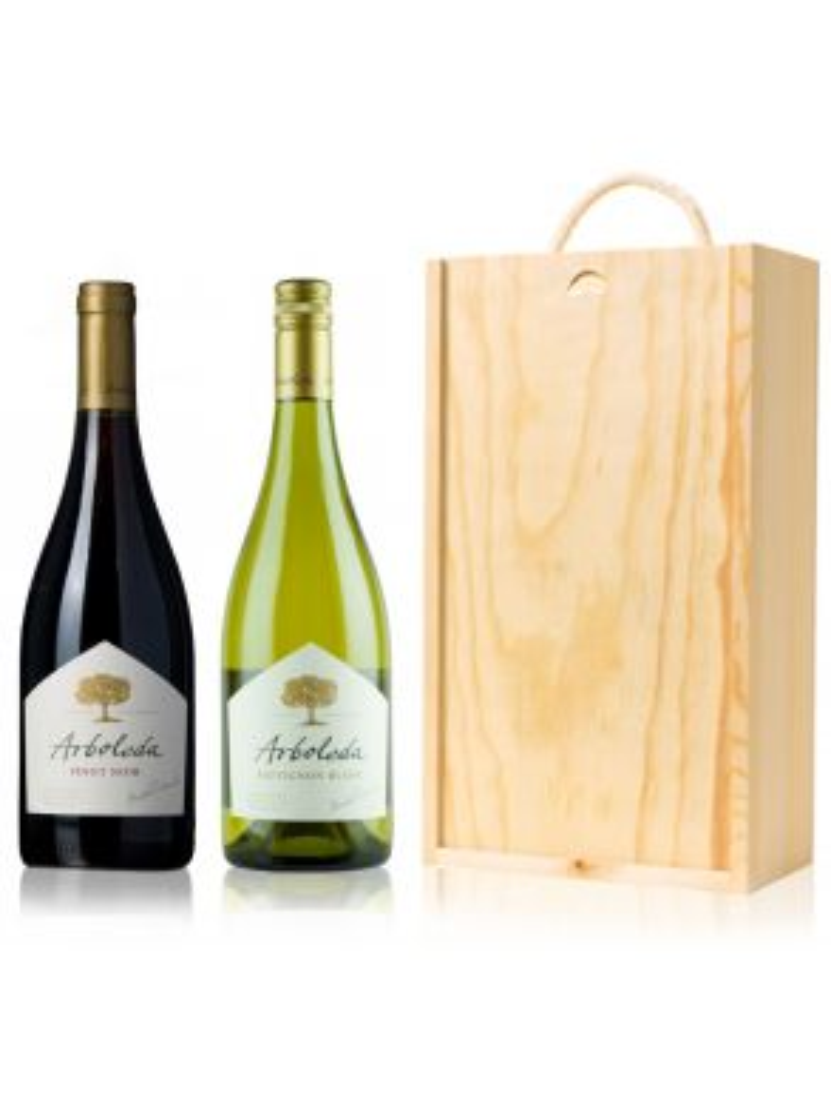 Vina Arboleda Chile Wine Gift 2 Bottles Wooden Gift Box