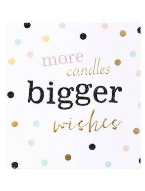 More Candles Bigger Wishes Dots Gift Card