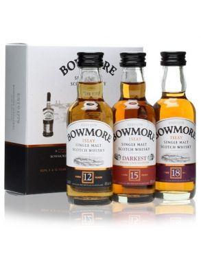 Bowmore 12, 15 & 18 Year Old 3x5cl Whiskey