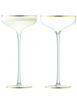 LSA Celebrate Champagne Saucers - Gold 250ml (Set of 2)
