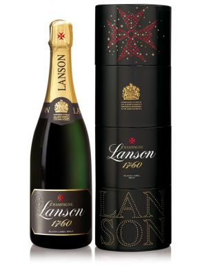Lanson Black label Champagne Brut NV 75cl Perfect Start Twist Gift Box