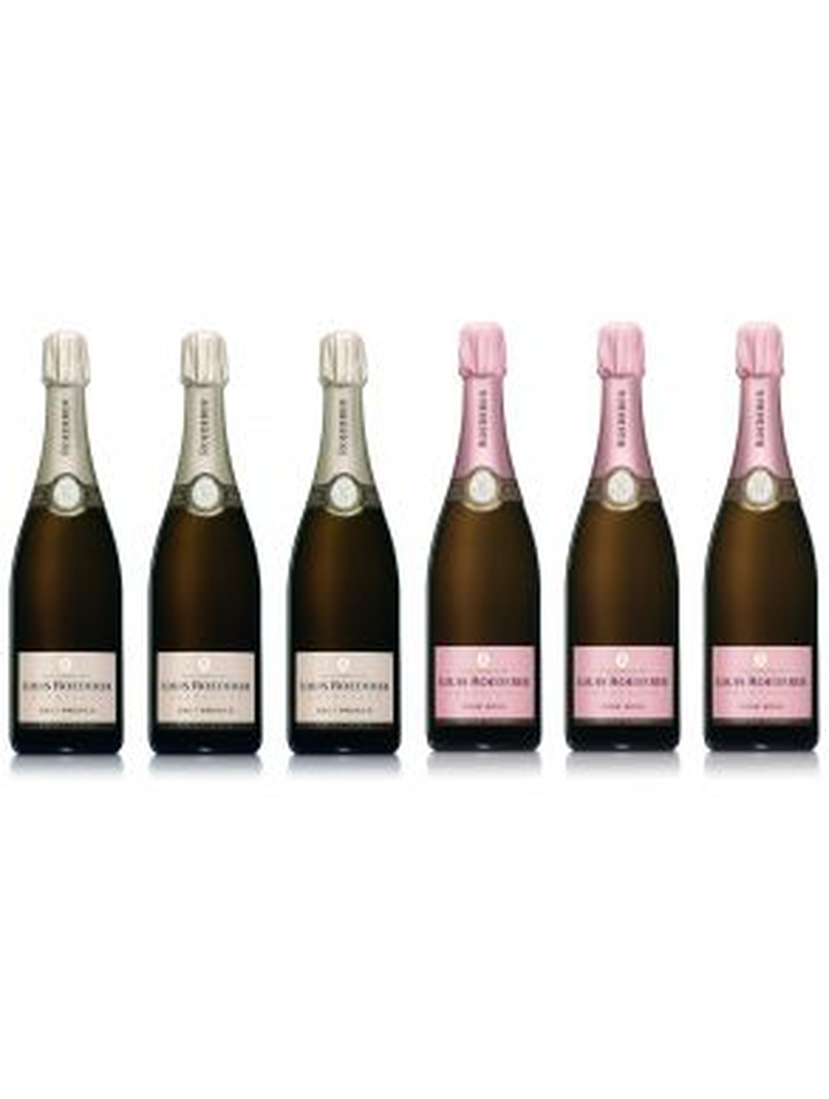 Louis Roederer Brut Premier & Vintage Rose 2011 Champagne 75cl x 6