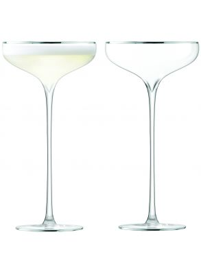 LSA Celebrate Champagne Saucers - Platinum 250ml (Set of 2)