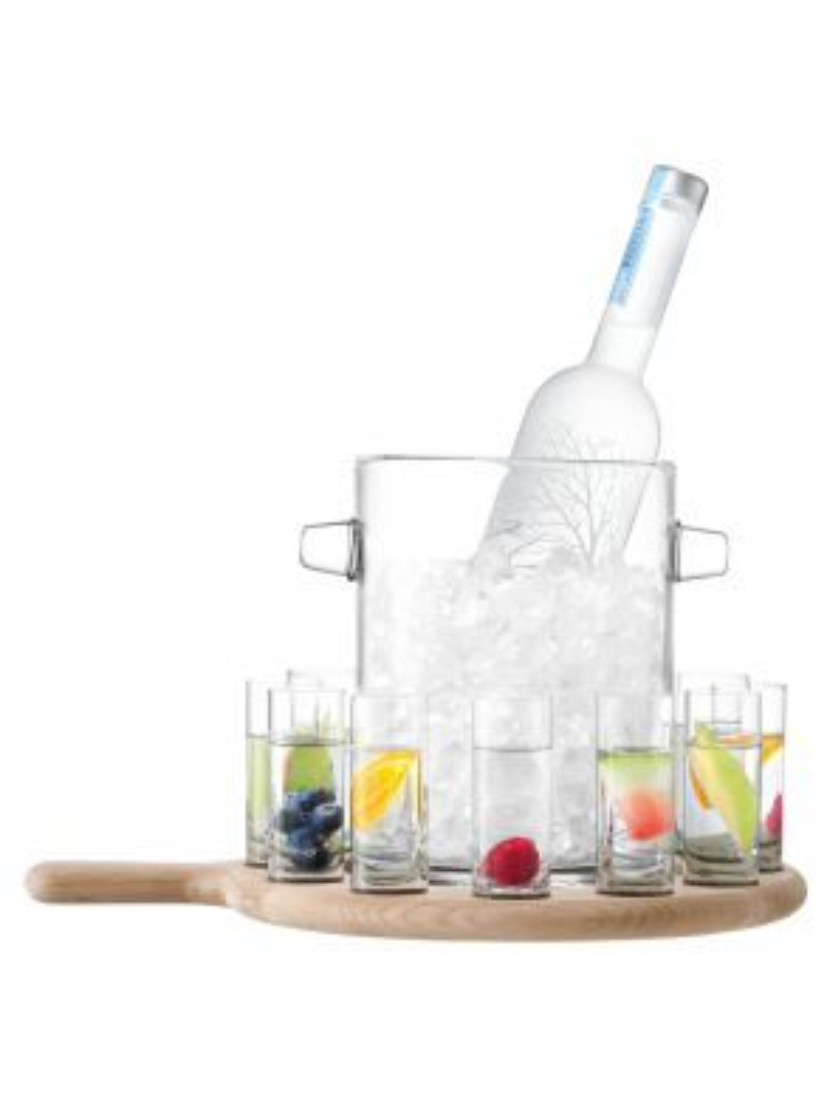 LSA Paddle Vodka Serving Set & Oak Paddle - 70ml
