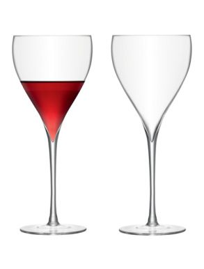 LSA Savoy Red Wine glasses - Clear 450ml (Set of 2)