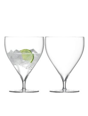 LSA Savoy Water / Wine Clear glasses - 460ml (Set of 2) Gift Box