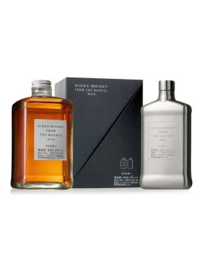 Nikka Whisky Co - Nikka from the Barrel 50cl with Hip Flask Gift Box