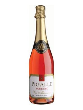 Pigalle Rose Sec Sparkling Wine France NV 75cl