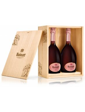 Ruinart Rosé Duo 2 x 75cl Champagne Wooden Box