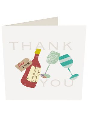 Thank You Wine And Glasses Gift Card