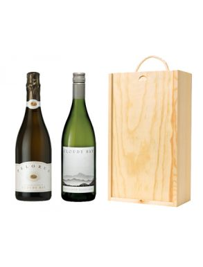 Cloudy Bay Wine Gift - New Zealand (2 Bottles & Wooden Gift Box)