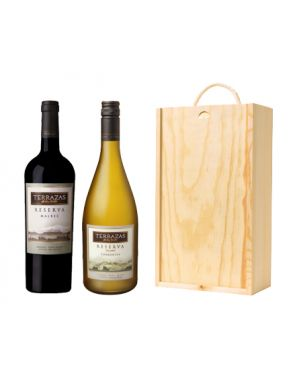 Terrazas de los Andes Wine Gift -Argentina (2 Bottles & Wood Gift Box)