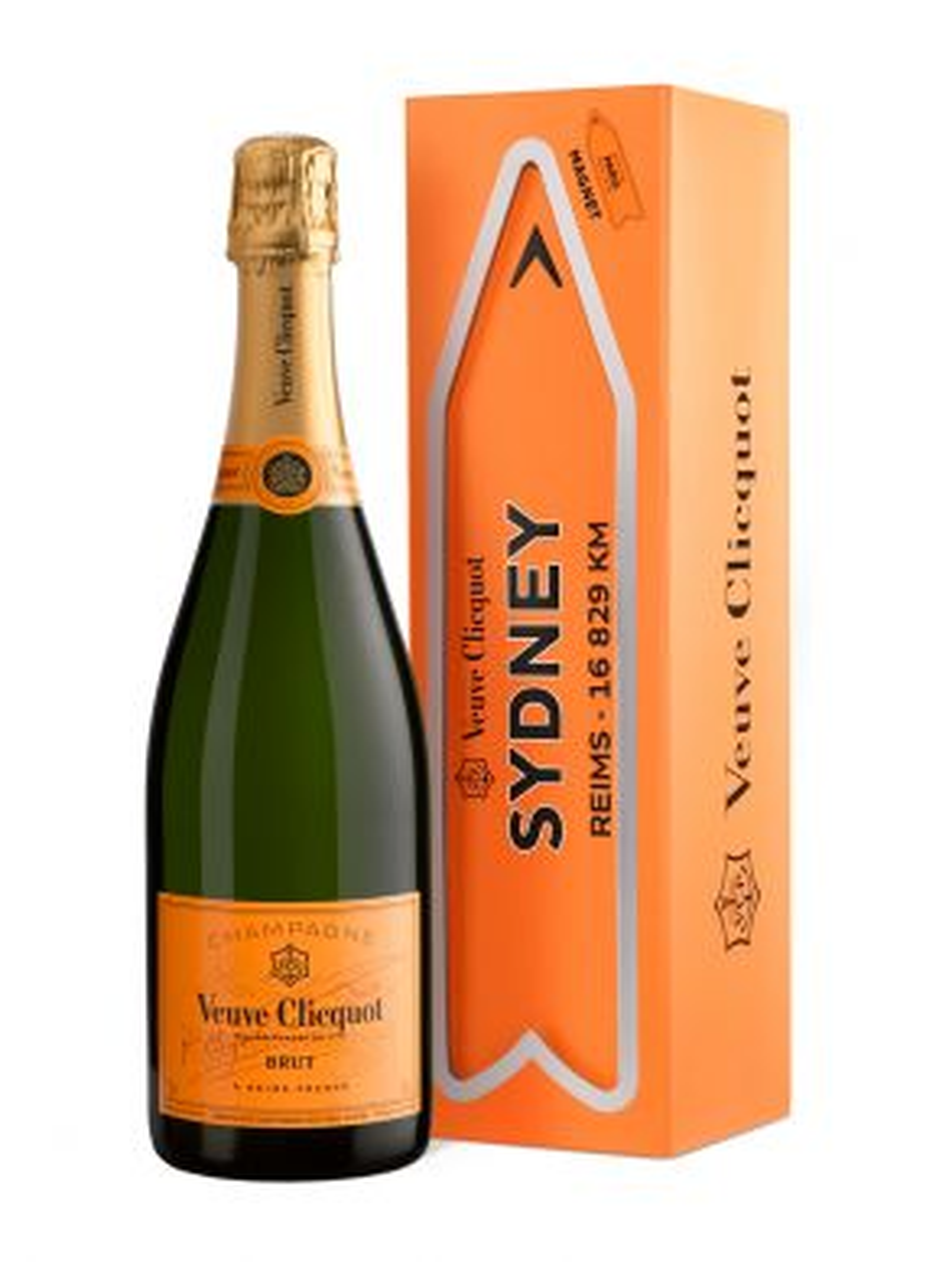 Veuve Clicquot Brut NV Champagne Magnetic Arrow Sydney Gift Box 75cl