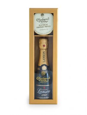 Lanson Black Label Mini Champagne & Chocolate Truffles Gift Set