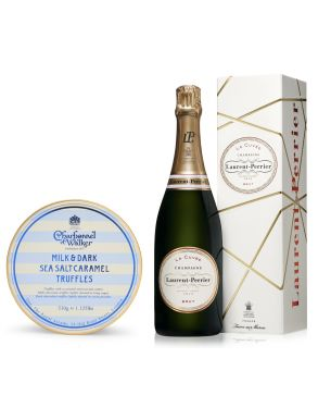 Laurent Perrier La Cuvee Champagne NV 75cl & Sea Salt Truffles 510g