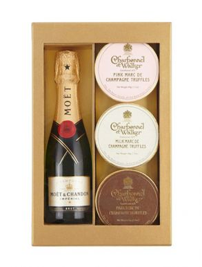 Moet & Chandon Mini Champagne & Truffle Trio Gift Set