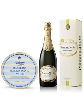Perrier Jouet Grand Brut Champagne NV 75cl & Sea Salt Truffles 510g