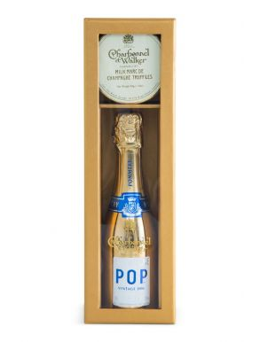 Pommery Pop Gold Mini Champagne & Truffles Gift Set