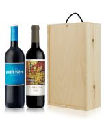 Argentinian/SA Wine Gift 2 Bottles Wooden Gift Box