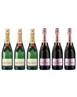 Moet & Chandon Brut & Rose Champagne Case Deal NV 6 x75cl
