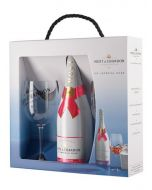 Moet & Chandon Ice Imperial Rose NV Champagne 75cl & 2 Glasses Set