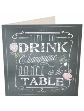 Time To Drink Champagne And Dance Gift Card