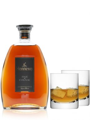 Hennessy Fine de Cognac & LSA Bar Tumblers Set of 4