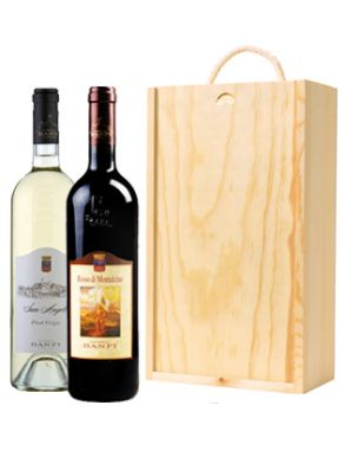 A Taste of Tuscany Castello Banfi (2 Bottles & Wooden Gift Box) 75cl