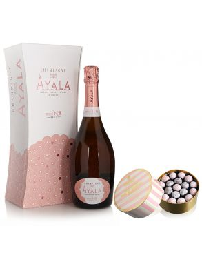 Ayala Rose No.8 Champagne Vintage 75cl & Truffle Collection 650g