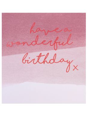 Have a Wonderful Birthday Pink Dip Dye Gift Card