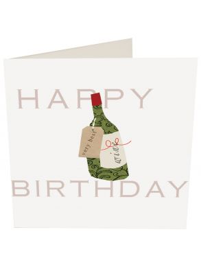 Happy Birthday Wine Gift Card