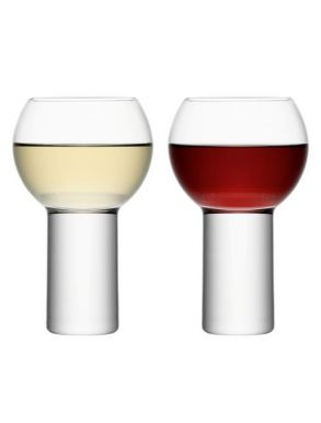 LSA Boris Wine Glass Goblets - 360ml (Set of 2) Gift Box