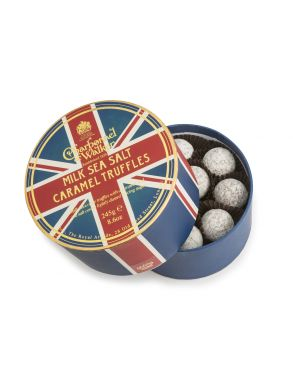 Charbonnel & Walker Union Jack Milk Sea Salt Caramel Truffles 245g