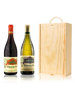 Clos De L'oratoire Wine Gift French 2 Bottles Wooden Gift Box