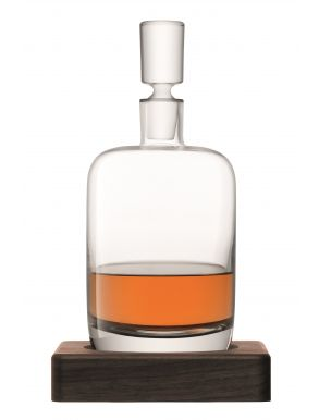 LSA Whisky Renfrew Decanter & Walnut Base - Clear 1L