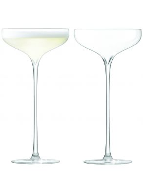 LSA Celebrate Champagne Saucers - Clear (Set of 2)