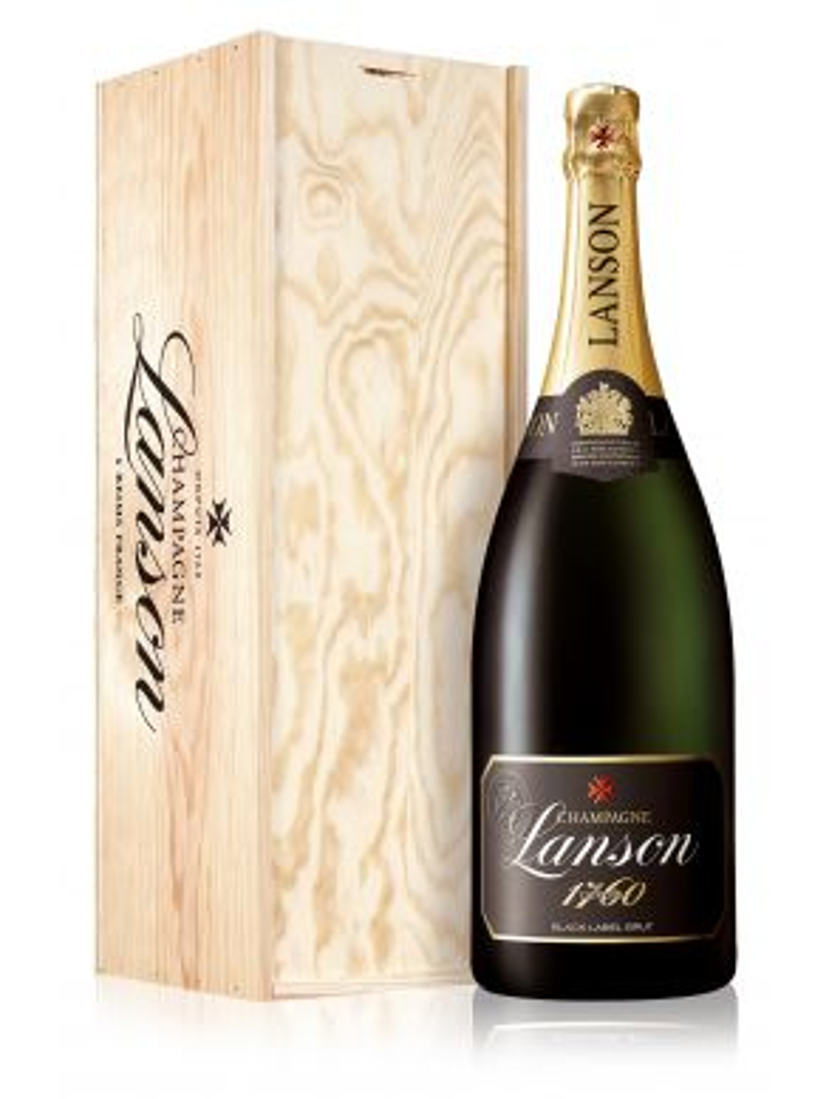 Lanson Magnum Black label Champagne Brut NV 150cl Wooden Gift Box
