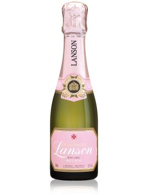 Lanson Rose Label Champagne Quarter Bottle Brut NV 20cl