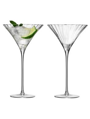LSA Aurelia Cocktail Glasses - Clear Optic 275ml (Set of 2)