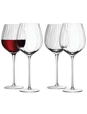 LSA Aurelia Red Wine Glasses - Clear Optic 660ml (Set of 4)