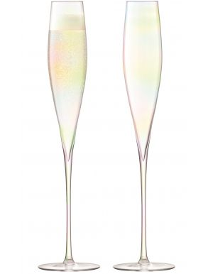 LSA Celebrate Champagne Flutes - Mother of Pearl 220ml (Set of 2)