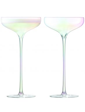 LSA Celebrate Champagne Saucers - Mother of Pearl 250ml (Set of 2)