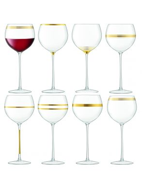 LSA Deco Wine Goblets - Gold 525ml (Set of 8)