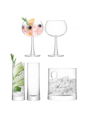 LSA Gin Ice Glassware Set - Clear